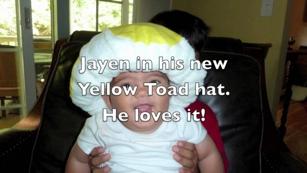 Super Mario Brothers Yellow Toad Hat