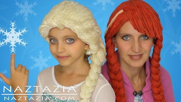 Diy Tutorial Yarn Wig Hair Disney Frozen Elsa Anna Braid Cosplay