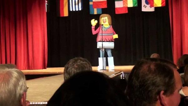 Amazing Lego Girl Costume & Skit