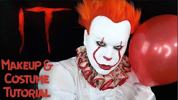 It Pennywise 2017 Clown Makeup Halloween Costume Tutorial Diy
