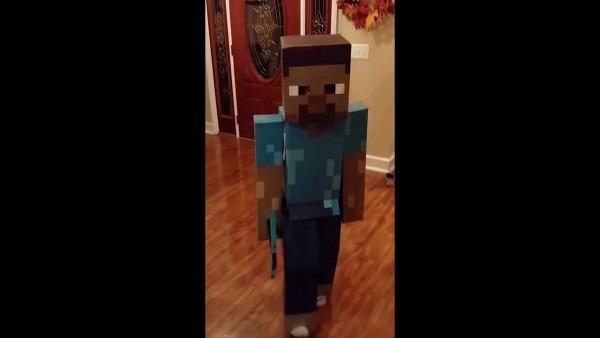 Homemade  Steve  Minecraft Costume