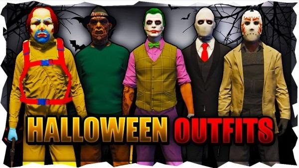 Gta 5 Best Halloween Outfits 2018 (freddy, Joker, Slender Man