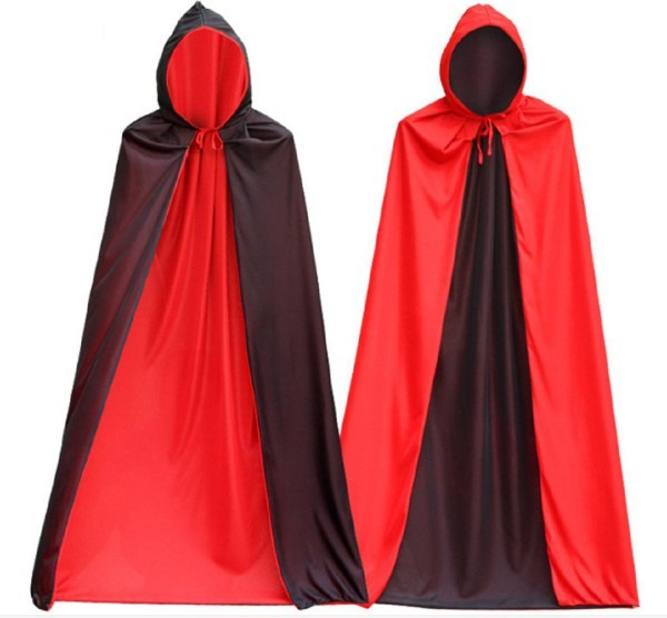 2019 Men's Very Cool Vampire Costume Black Cloak With Cap