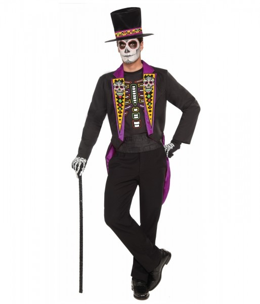 Day Of The Dead Fine Gent Mens Costume