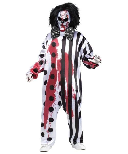 Bleeding Mask Killer Clown Mens Costume