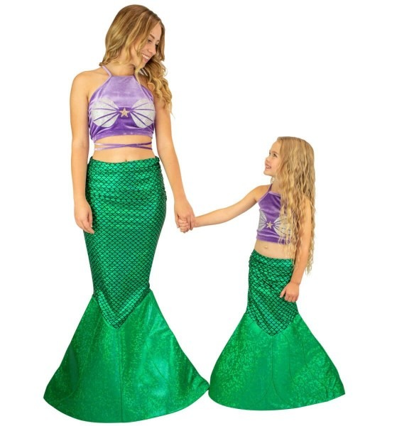 Mermaid Halloween Costume For Kids And Adults