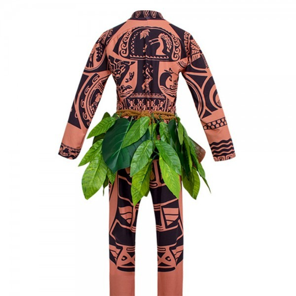 Movie Moana Maui Cosplay Costume Cartoon Full Sets For Men Adults