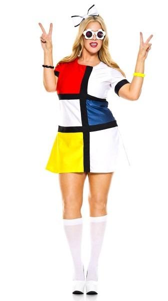 60's Mod Plus Size Women's Costume