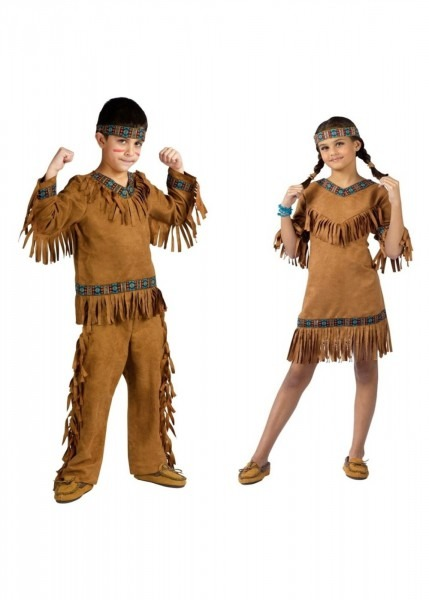 Native American Boys And Girls Costume