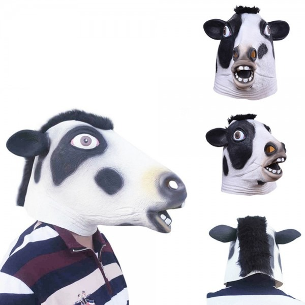 New Arival Halloween Party Festival Mask Latex Rubber Cow Mask