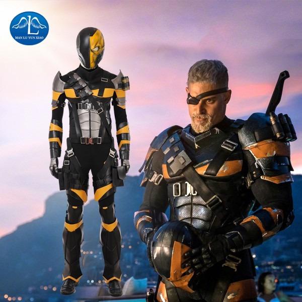 New Dc Super Villain Deathstroke Cosplay Costume Men Full Set