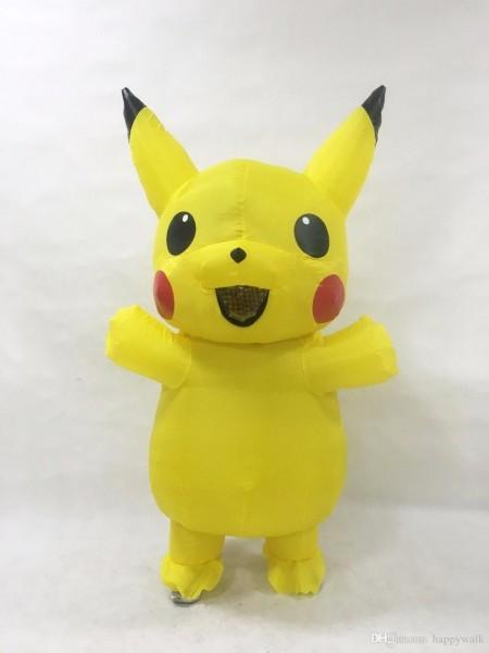 New Sale Children Pikachu Inflatable Costume Halloween Funny