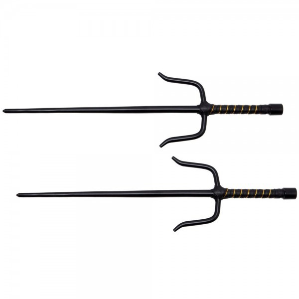 Black 1045 Carbon Steel Ninja Octagon Sai