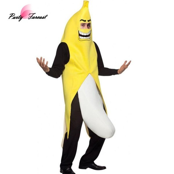 Pf Sexy Banana Cosplay Dress Costume Funny Props For Adult Men