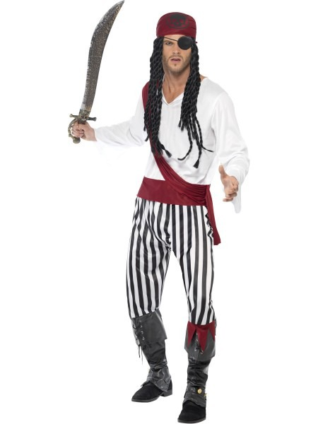Pirate Man Fancy Dress Adults Pirates Of The Caribbean Film