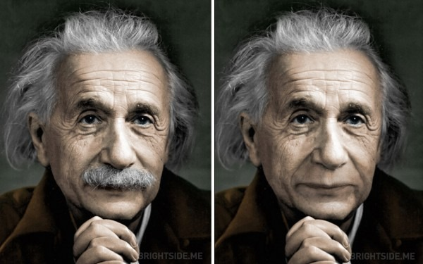 Famous People (and Cartoons) With And Without Their Mustaches