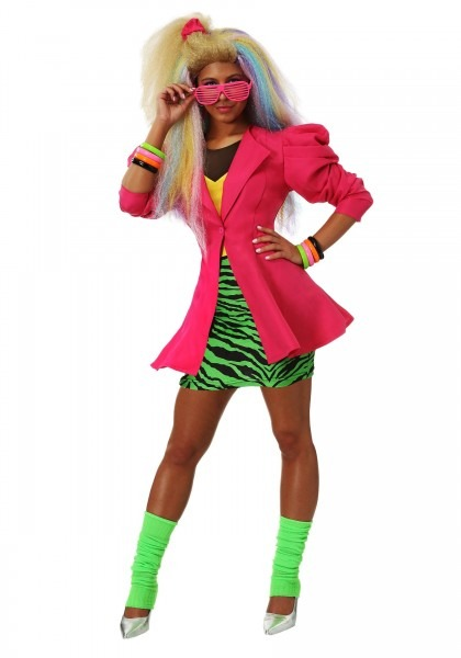 Plus Size 80's Valley Girl Women's Costume