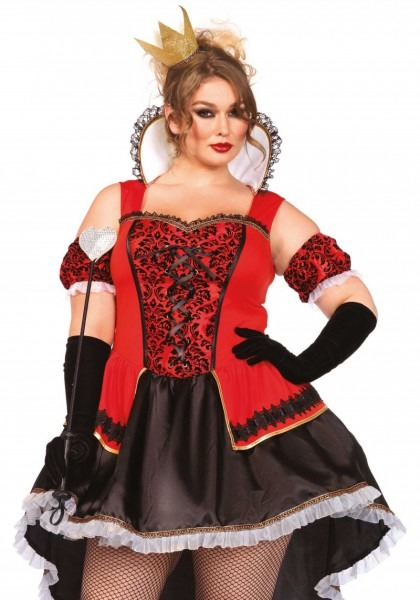 Plus Size Royally Sexy Queen Of Hearts Halloween Costume
