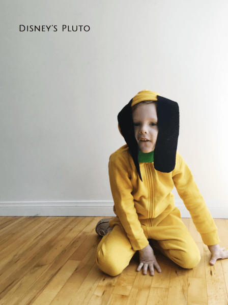 Disney's Pluto No Sew Halloween Costume – The Girls With Glasses