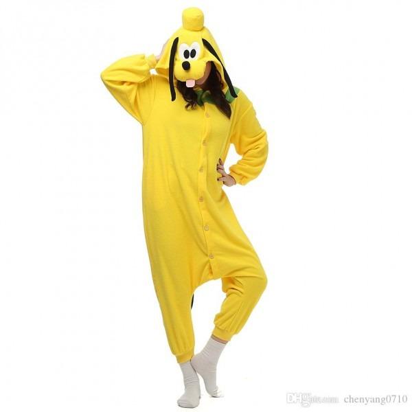 Pluto Dog Women And Men Cartoon Kigurumi Polar Fleece Costume For