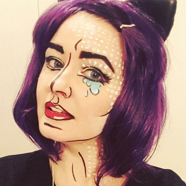 Pop Art Cartoon Ic Makeup Halloween Face Paint Types Of Comic