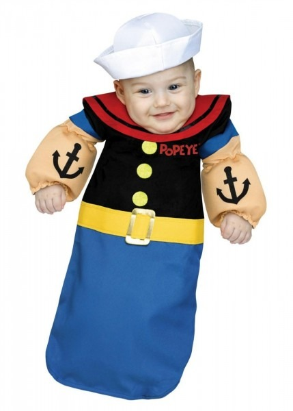 Popeye Baby Boy Bunting