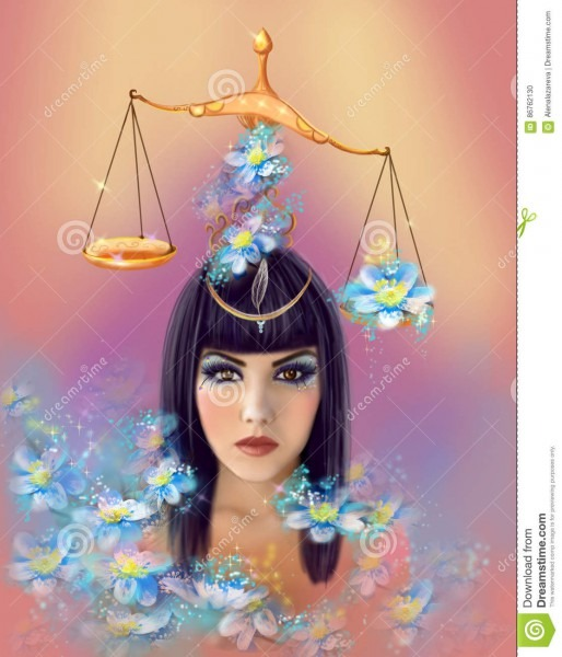 Portrait Egyptian Goddess Maat Stock Illustration