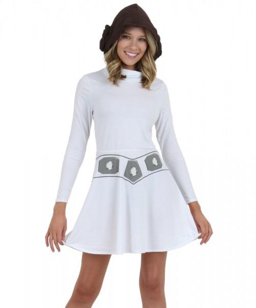 Princess Leia Women's Hooded Skater Dress