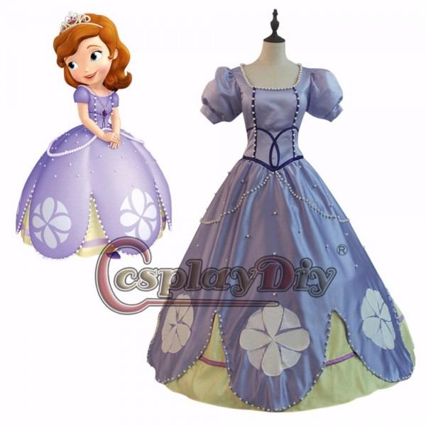 Princess Sofia Dress Costume Cosplay Sofia The First Lady's Dress