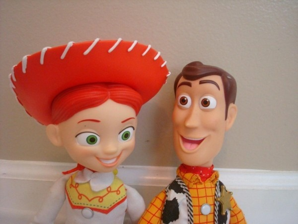 Pull String Woody & Jessie W  Hat Disney Toy Story Talking Dolls
