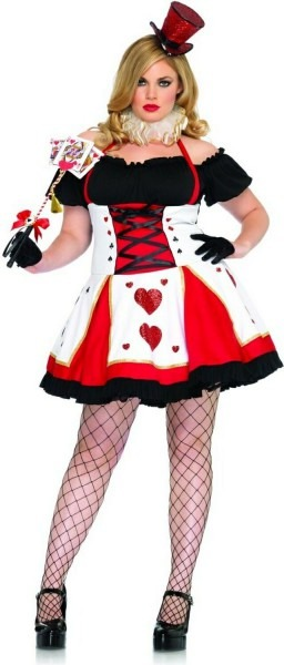Pretty Playing Queen Of Hearts Plus Size Costume