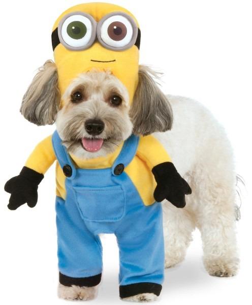 Despicable Me Minions Movie Minion Bob Dog Costume Pet Dress Up Xs