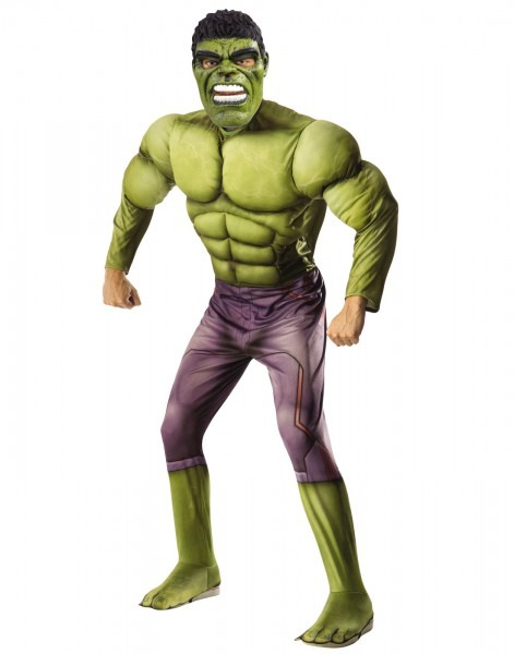 Thor Ragnarok Mens Deluxe Muscle Chest Incredible Hulk Marvel
