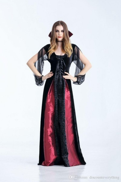 Halloween Adult Cos Clothing Count Dracula Queen Vampire Demon