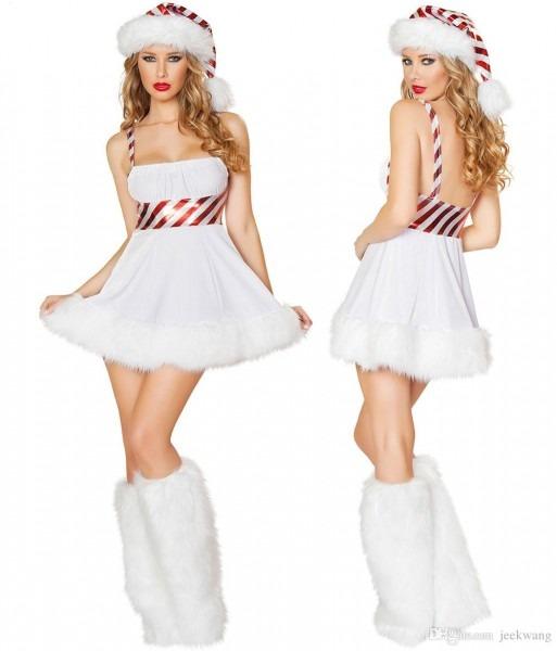 Women Sexy Santa Christmas Costume Fancy Dress Xmas Office Cosplay