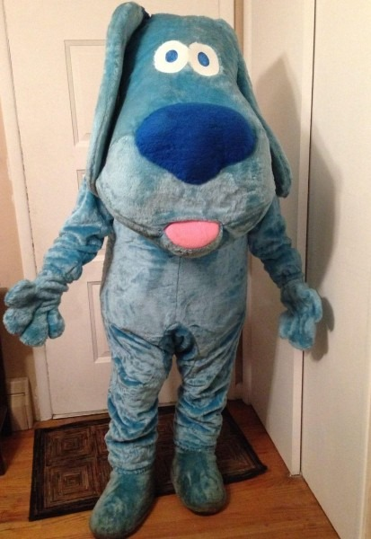 New 2015 Eva Adult Size Blue's Clues Blue Dog Furry Mascot Costume