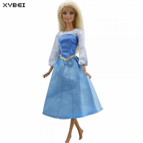 Fairy Tale Princess Dress Copy Sleeping Beauty Aurora Outfit Blue