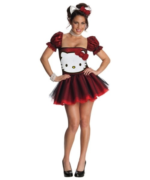 Adult Red Hello Kitty Halloween Costume