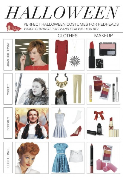 Halloween Costumes For Redheads  Inspired By Tv And Film