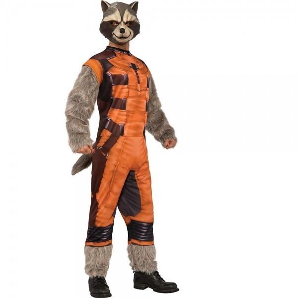 Rocket Raccoon Deluxe Adult Mens Costume Ideas Of Mens Halloween