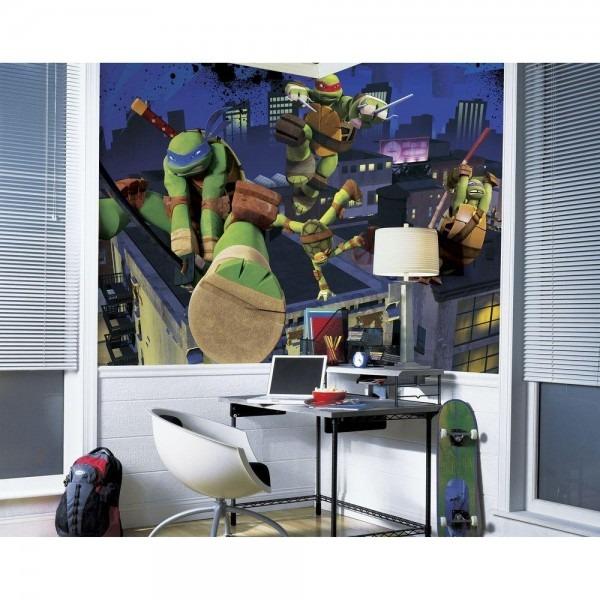 Roommates 72 In  X 126 In  Teenage Mutant Ninja Turtles Cityscape
