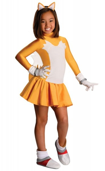Tails Fox Sonic The Hedgehog Girls Costume