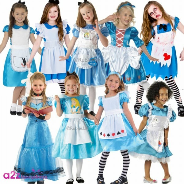 Girls Alice Story Fairytale Wonderland Book Day Character Fancy