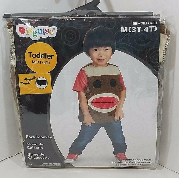 Sock Monkey Costume Toddler Size Medium 3t