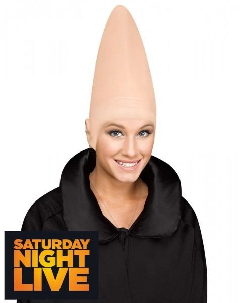 Conehead Coneheads Cone Cap Alien Headpiece Bald Head Wig Unisex