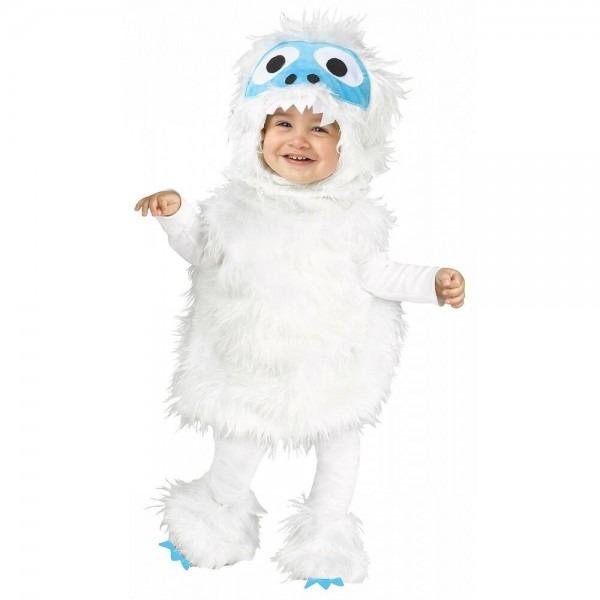 Abominable Snowman Costume Baby Toddler Yeti Halloween Fancy Dress