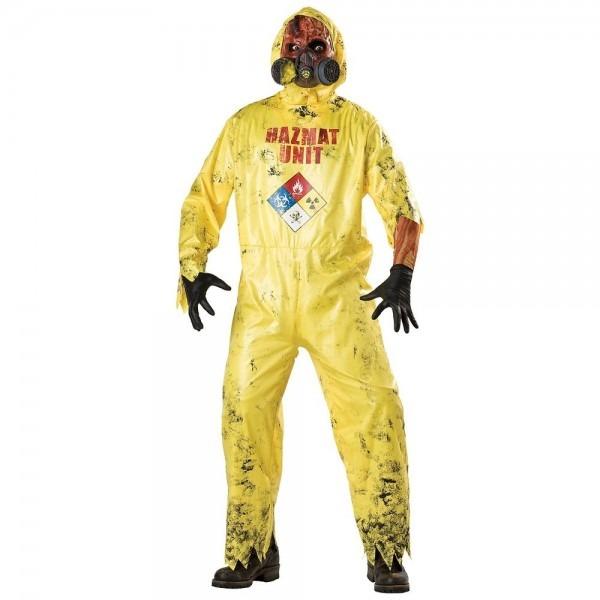 Hazmat Suit Costume Adult Scary Zombie Halloween Fancy Dress