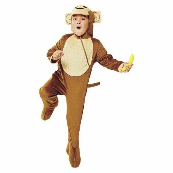 Plush Monkey Costume With Banana Hooded Toddler Size 3t