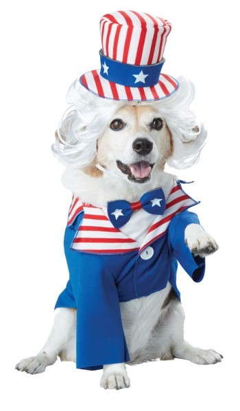 Uncle Sam Dog Pet Costumes