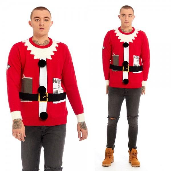 Wholesale Mens Santa Suit Fine Knit Christmas Jumper